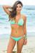 Laguna Solid Mint Green Triangle Bikini Top & Single Rise Scrunch Bottom Swimsuit
