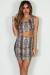 """Sweet Escape"" Python Print One Shoulder Bodycon Dress"