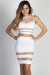 """Zara"" White & Nude Sheer Mesh Two Piece Dress"