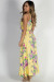 """Paradise Perfection"" Yellow Floral Racer Back Maxi Dress"