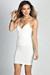 """""""Scarlett"""" Ivory White V Neck Strappy Backless Dress"""
