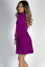 """Social Butterfly"" Orchid Purple Classy Ribbon Sleeve Surplice Dress"