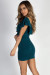 """""""Would You Ever"""" Evergreen Ruched Off Shoulder Dress"""