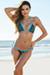 Ipanema Blue Leopard Print & Aqua Triangle Bikini Top & Sexy Thong Bikini