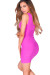 """Callie"" Magenta V Neck Bodycon Tank Mini Dress"