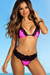Pink Polka Dots & Black Lace Versailles Bikini Top & Maui Bikini Bottom