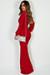"""Divine Feminine"" Red Long Sleeve Deep V Maxi Gown"
