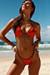 Tokyo Red & Black Triangle Top & Single Rise Sexy Polka Dot Bikini