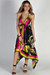 """Mimosas & Sunshine"" Pink & Lime Floral Scarf Dress"
