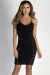 """Ingenue"" Black Cut Out Bodycon Dress"
