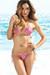 Amsterdam Gold & Pink Sequins Single Rise Scrunch Bottom Sexy Ring Bikini