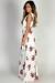 """Making Memories"" White & Mauve Floral Print Sleeveless V Neck Maxi Dress"