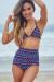 Waikiki Aztec Print Triangle Top & Scrunch Bottom Retro Sexy High Waist Bikini