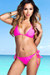 Hot Pink Classic Bikini Top & Surfside Hot Pink Classic Bikini Bottom