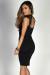 """Nina"" Black Lace Cap Sleeve Choker Collar Sweetheart Cocktail Dress"