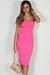 """Into You"" Neon Pink Basic Tube Mini Dress"