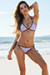 Nashville Lilac & Black Two-Tone Triangle Top Single Rise Scrunch Bikini