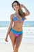 Maui Hot Pink & Turquoise Triangle Top Scrunch Bottom Sexy Lace Bikini Swimsuit