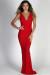 """""""Always & Forever"""" Red Glitter Sleeveless V Neck Maxi Gown"""