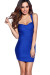 """Paloma"" Royal Blue Cross Back Bodycon Cocktail Dress"