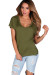 """Kelly"" Avocado Green Super Soft Oversized Ladies V Neck T Shirt"