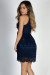 """Wonderful Life"" Navy High Neck Halter A-Line Lace Party Dress"