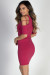 """On Your Mind"" Fuchsia Crisscross Cut Out Sleeve Casual Mini Dress"