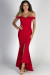 """""""Pretty Woman"""" Red Sweetheart Off Shoulder Mermaid Maxi Gown"""