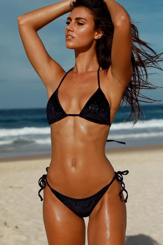1f6e062c8f Laguna Classic Royalty Black Velvet Bikini Top   Panama Classic ...