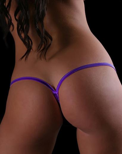 Solid Purple Y-Back Thong Underwear