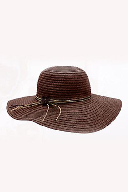 Hat Floppy Beach Dark Brown