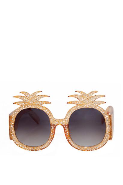 Summer Lovin' Gold Pineapple Sunglasses