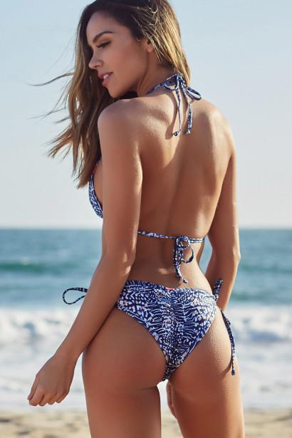 Laguna Navy Animal Classic Bikini Top & Panama Navy Animal Classic Bikini Bottoms