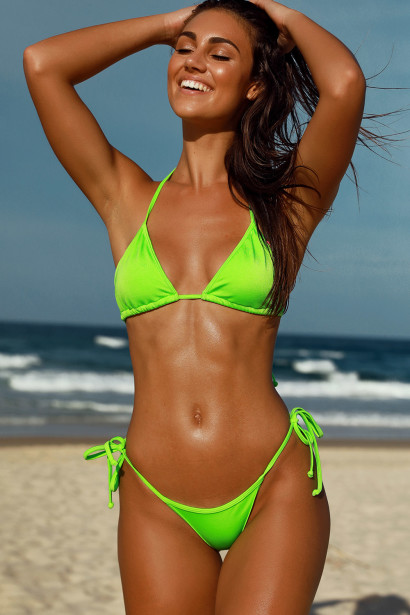 Question how neon bikini top
