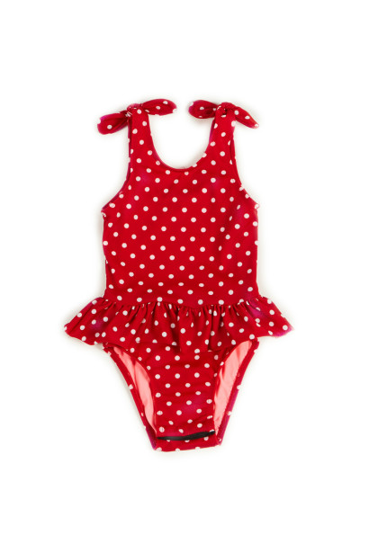 Bella Red Polka Dot Baby/Toddler One Piece Swimsuit