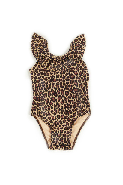 Cleo Leopard Baby/Toddler One Piece Swimsuit