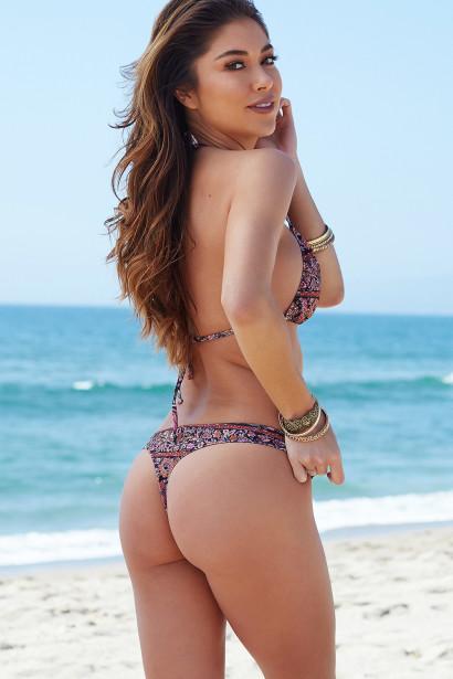 Ibiza Brazilian Cut Versache Print Triangle Top Sexy Thong Bikini