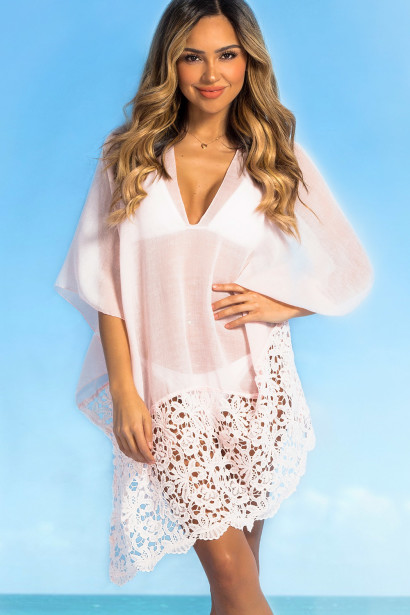 Boston Light Pink Poncho Coverup