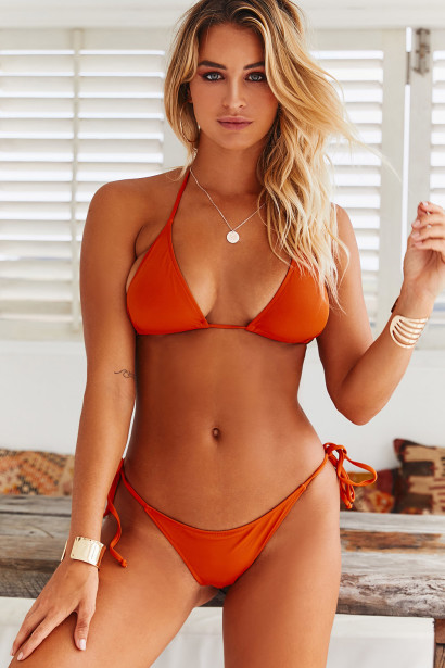 Rust Triangle Top & Rust Classic Scrunch Bottom
