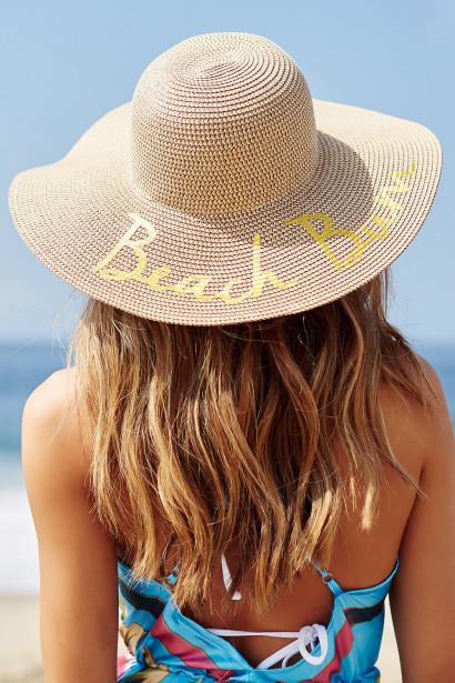 Beach Bum Wide Brim Floppy Hat