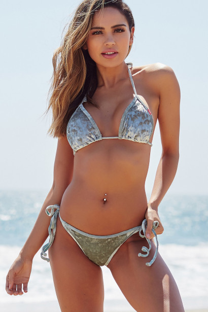 Laguna Sage Velvet Classic Bikini Top & Panama Sage Velvet Classic Bikini Bottom