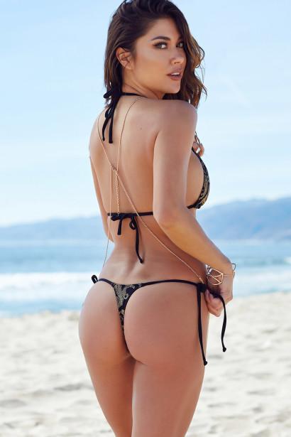 G string bikini on the beach has