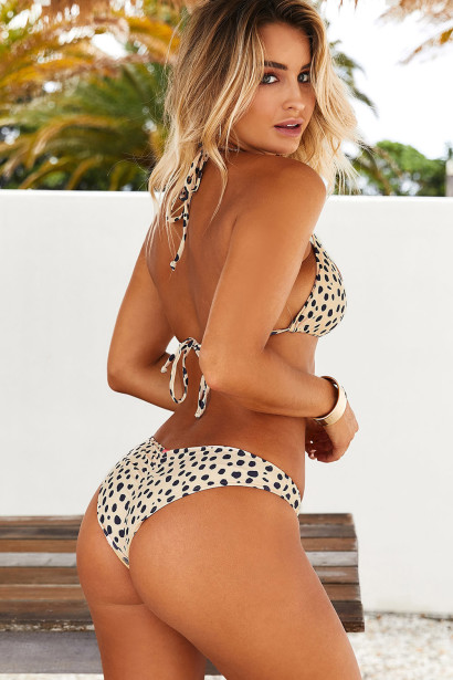 Cheetah Triangle Top & Cheetah Banded Classic Scrunch Bottom