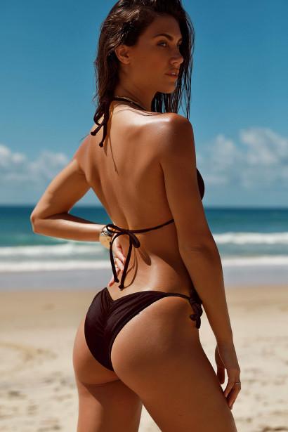 Laguna Cappuccino Triangle Bikini Top & Panama Cappuccino Classic Bikini Bottom