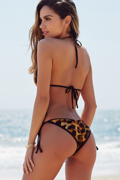 Laguna Velvet Leopard & Black Classic Bikini Top & Panama Velvet Leopard & Black Classic Bikini Bottom