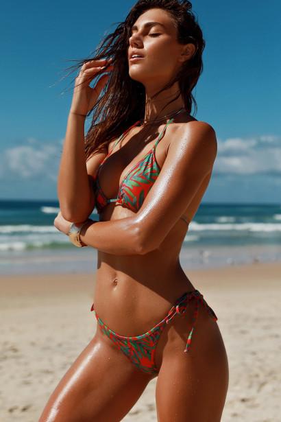 Fern Triangle Bikini Top & Fern Classic Scrunch Bikini Bottoms