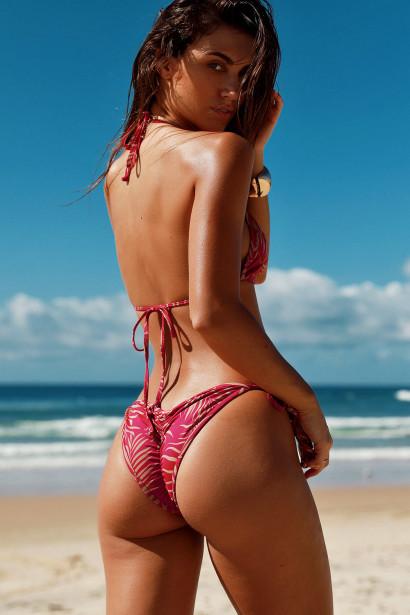 Laguna Berry Fern Classic Bikini Top & Panama Berry Fern Classic Bikini Bottom