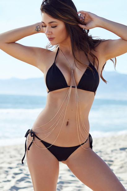 Solid Black Triangle Top & Cheeky Micro Scrunch Bun® Bottoms Bikini