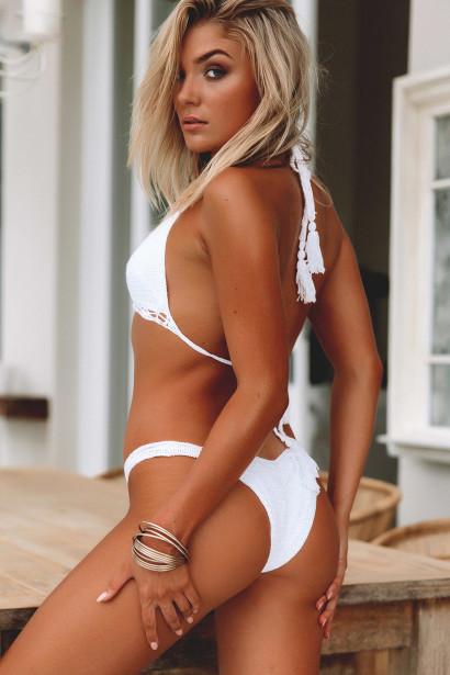 Hyacinth White Bikini Top & Rosemary White Bikini Bottom