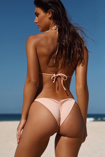 Blush Triangle Bikini On a Chain Top & Blush Classic Bikini On a Chain Bottom